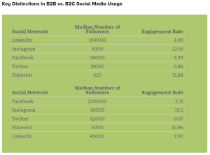 key distinctions in social media usage